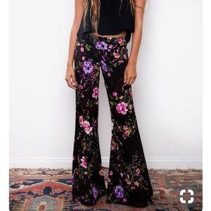 Flynn Skye Floral Print Flared Pant